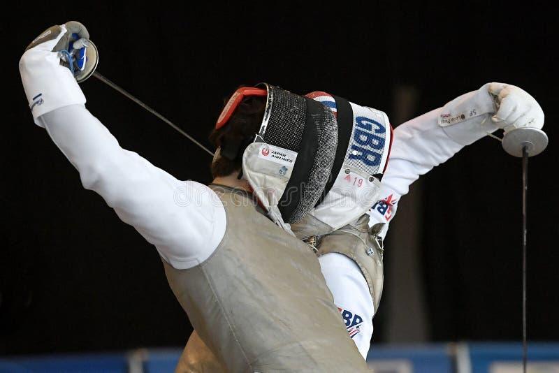 Sword FIE Fencing Grand Prix 2029 - Men royalty free stock photography