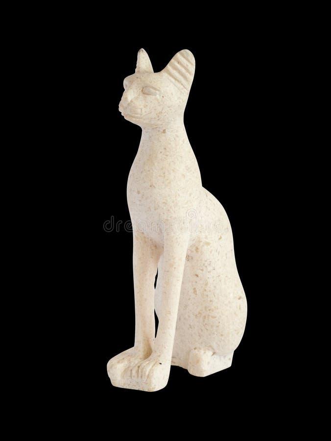 Chat égyptien d'albâtre photographie stock