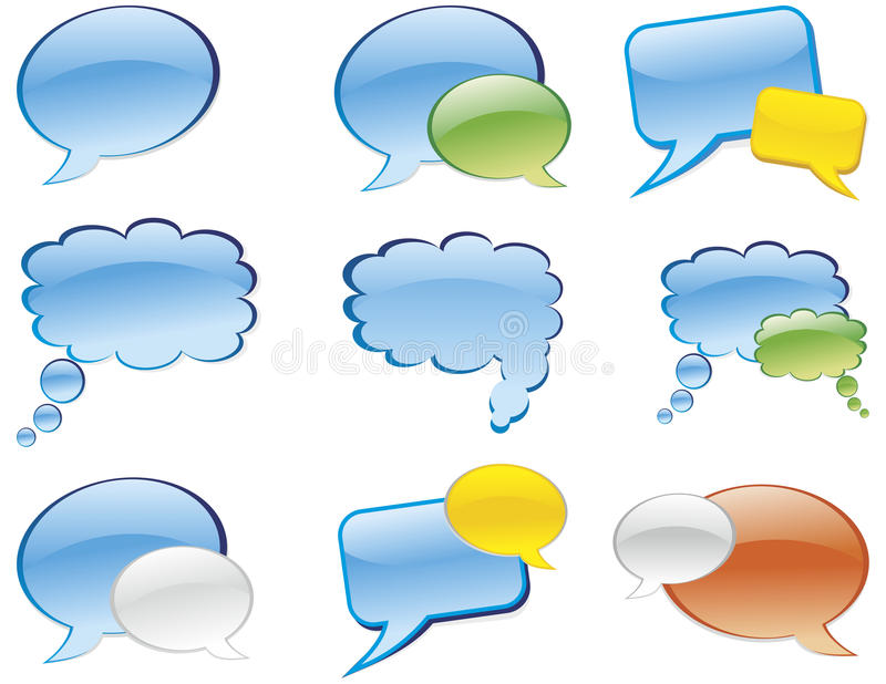 Download Chat stock vector. Illustration of comic, internet, dots - 16123100