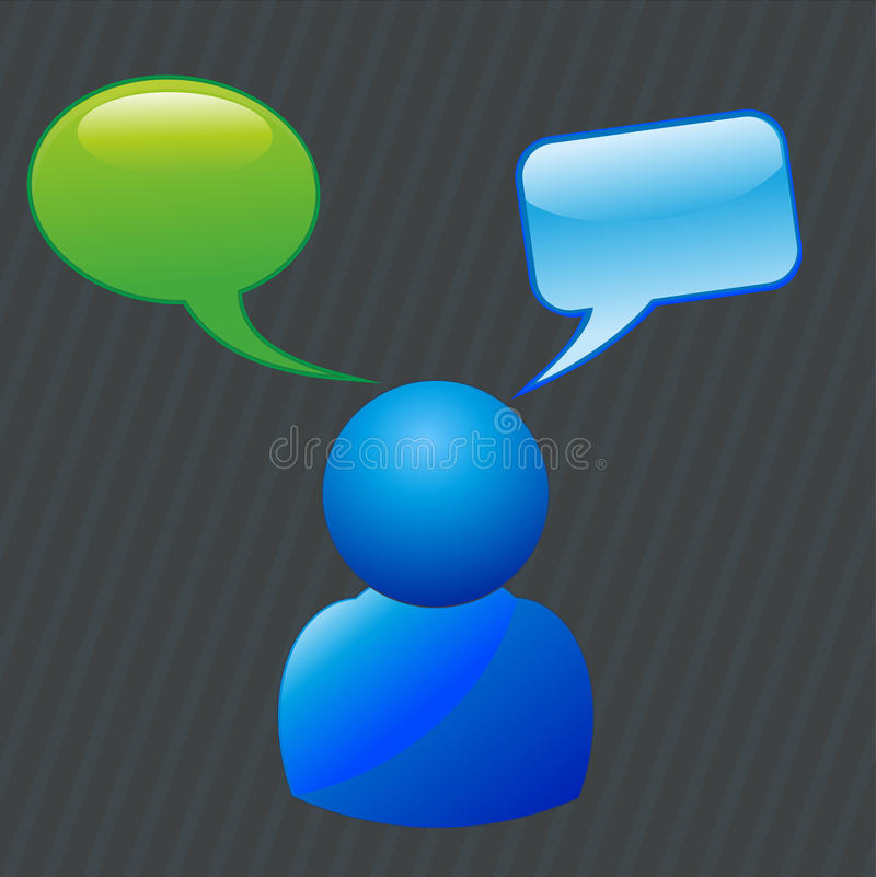 Download Chat stock vector. Image of internet, design, chatting - 20821964