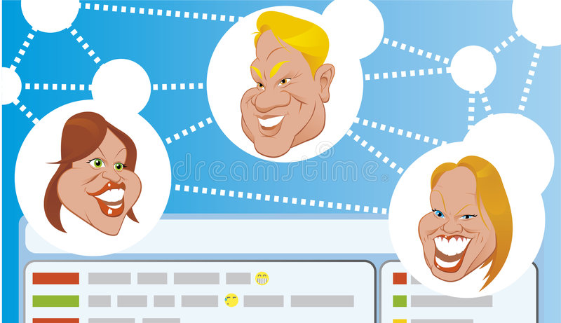 Chat royalty free illustration