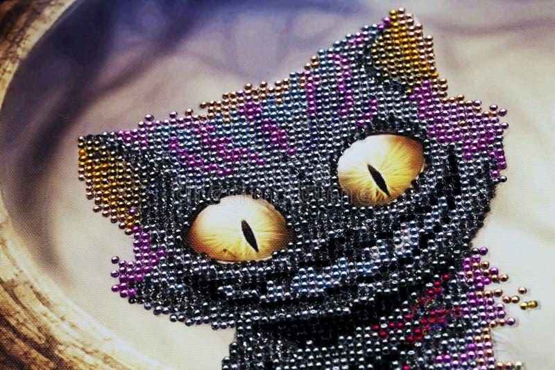 Chat abstrait de Cheshire images stock