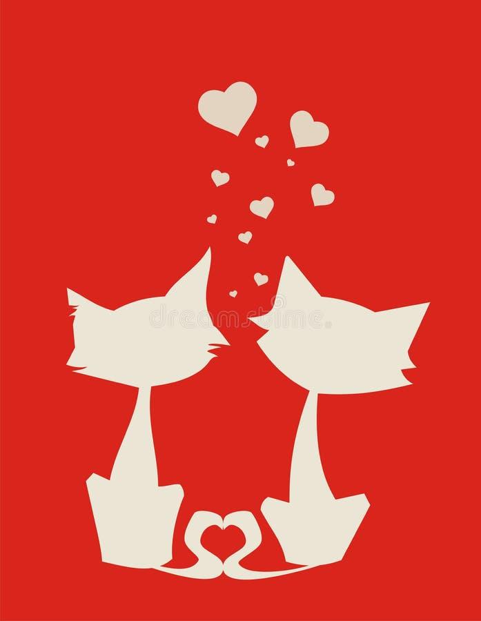 Chat-amoureux image libre de droits
