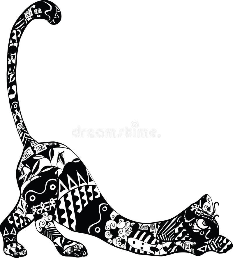 Chat avec un ornement illustration de vecteur