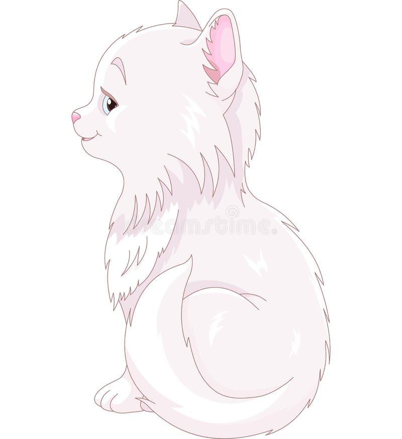 Chat blanc illustration de vecteur