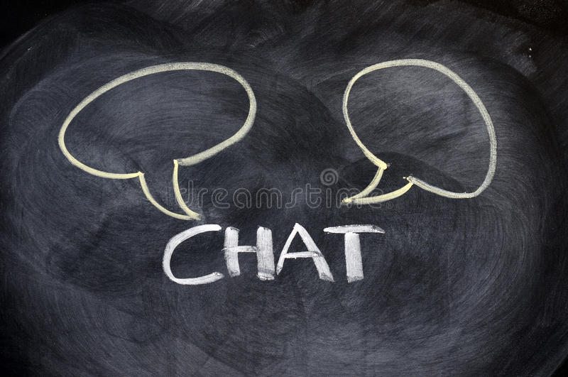 Download Chat Board Drawn On A Blackboard Stock Image - Image of label, handwriting: 22582059
