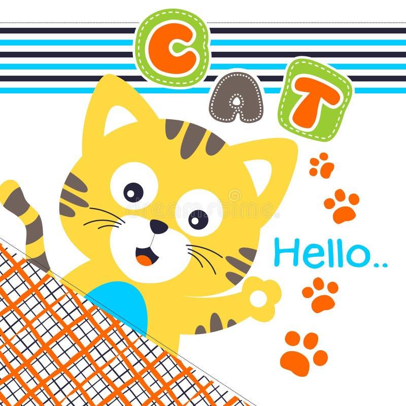 Chat bonjour illustration de vecteur