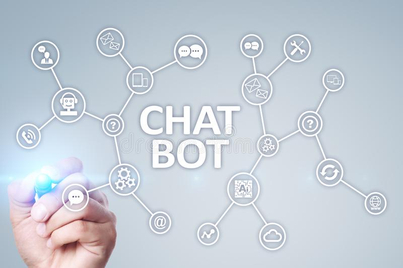 Chat bot, Ai, Artificial intelligence and automation technology in service and support. Business innovation. Chat bot, Ai, Artificial intelligence and stock images