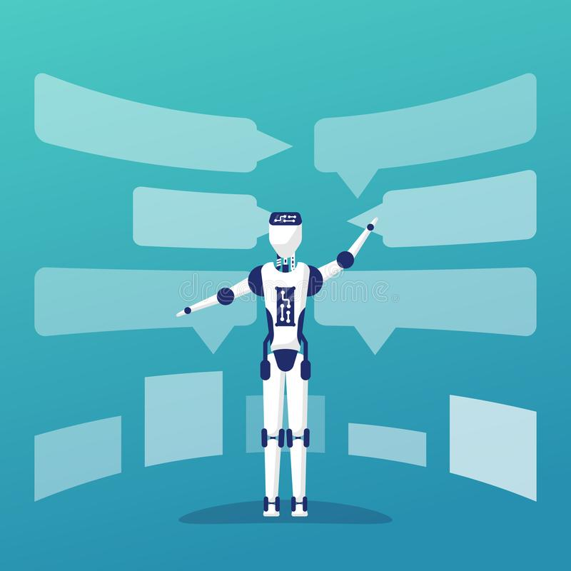 Chat bot artificial intelligence royalty free illustration
