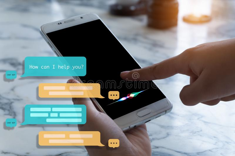 Chat bot assistant for future. royalty free stock image