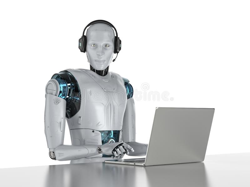 Chat bot concept royalty free illustration