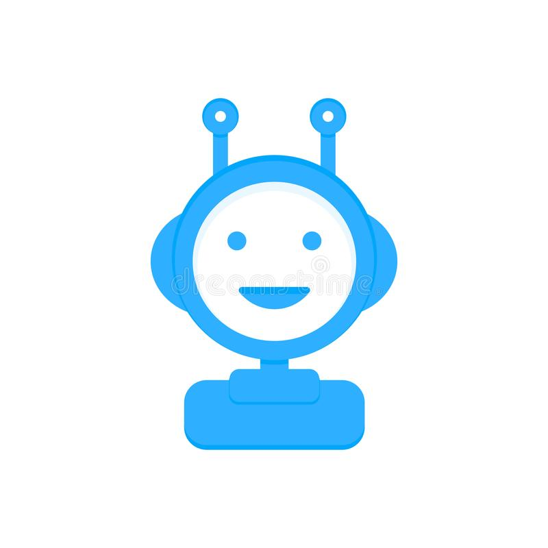 Chat bot icon background. Virtual assistant for website. Chat bot concept for customer service. Vector. Chat bot icon background. Virtual assistant for website royalty free illustration