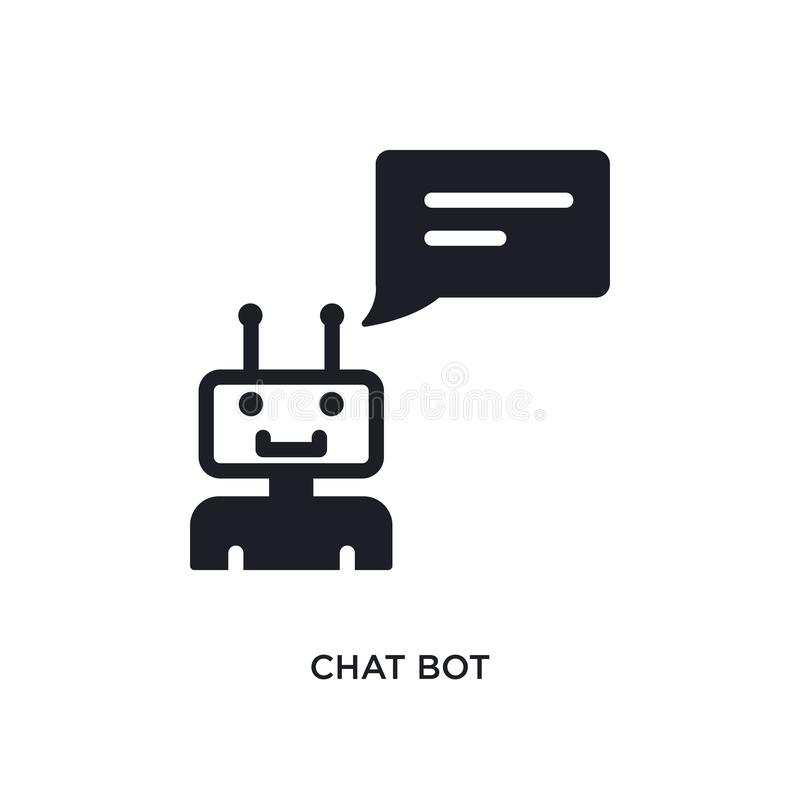chat bot isolated icon. simple element illustration from general-1 concept icons. chat bot editable logo sign symbol design on royalty free illustration