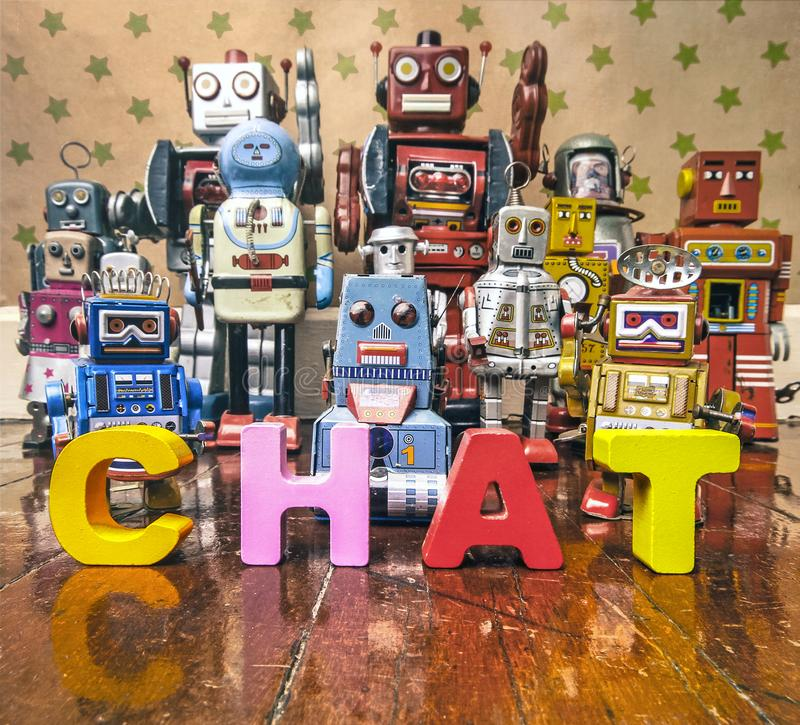 Free Chat Bot Robots Royalty Free Stock Photography - 105505767