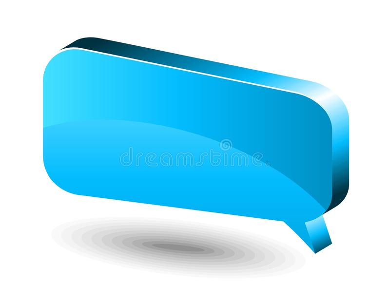 Chat box. Blue. Vector glossy chat box in blue color royalty free illustration