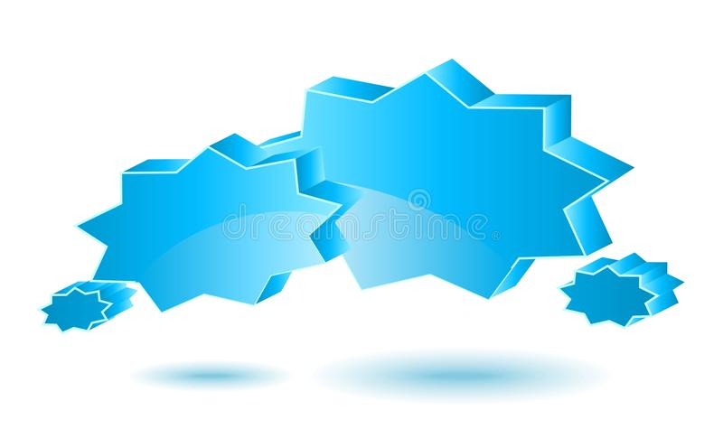 Chat box. Blue. Two vector glossy chat box in blue color stock illustration