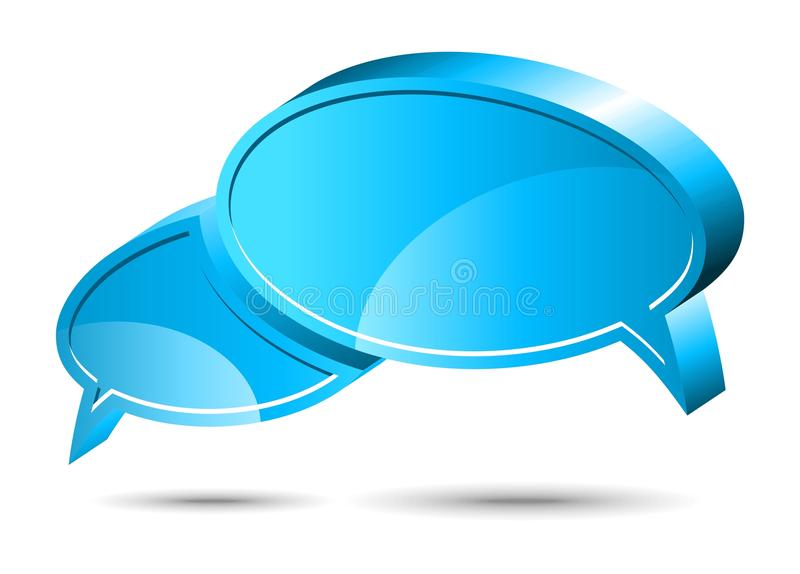 Chat box. Blue. Two vector glossy chat box in blue color vector illustration