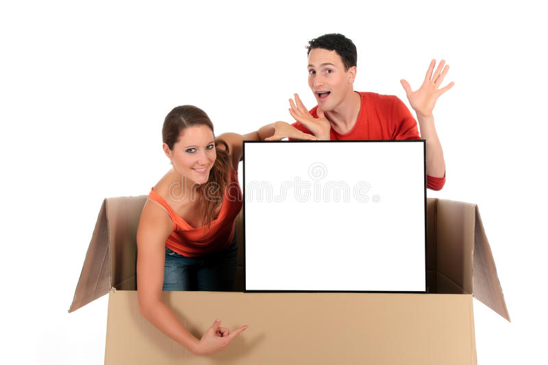 Chat box couple advertising