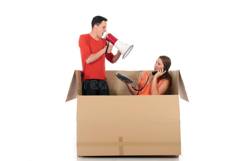 Download Chat box couple quarrel stock photo. Image of concept - 14306196