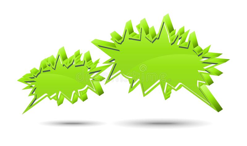 Chat box. Green stock illustration