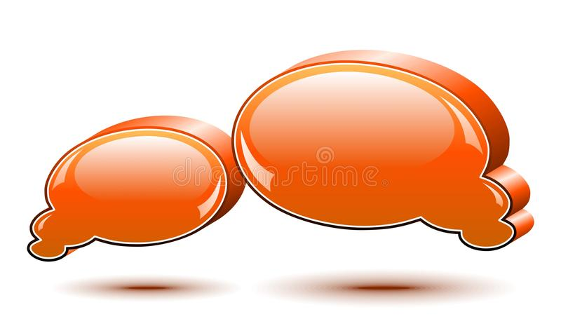 Chat box. Orange. Two vector glossy chat box in orange color royalty free illustration