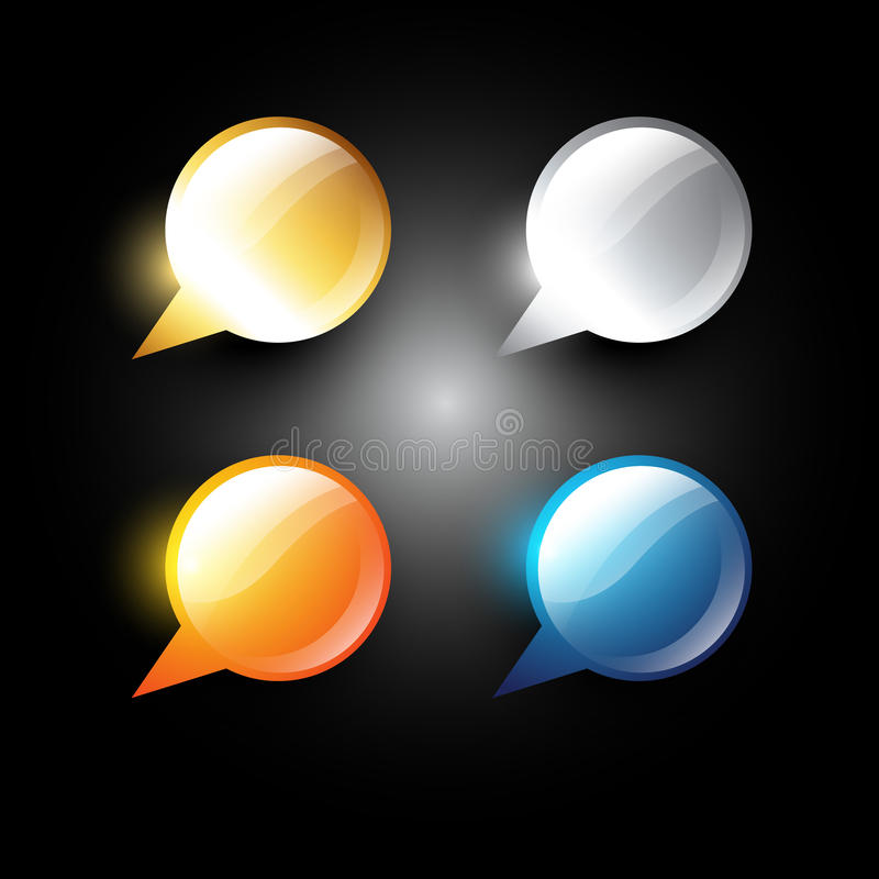 Download Chat bubble stock vector. Image of tell, blank, discuss - 22743604