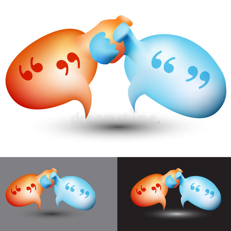 Chat Bubble Handshake