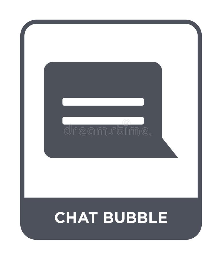 chat bubble icon in trendy design style. chat bubble icon isolated on white background. chat bubble vector icon simple and modern stock illustration