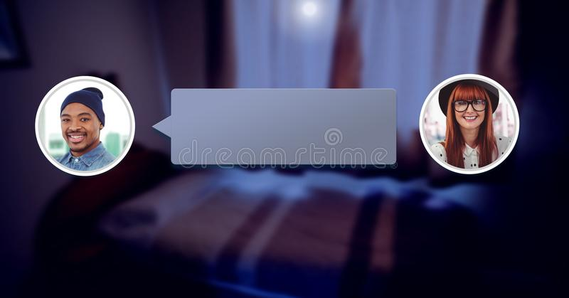 chat bubble messaging profiles royalty free stock images
