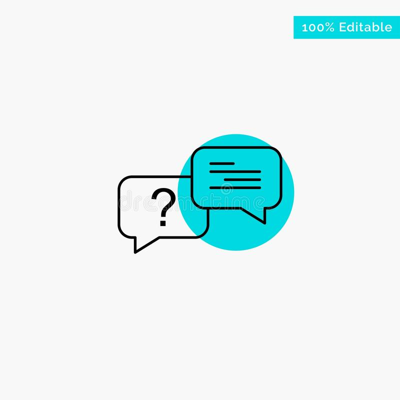 Chat, Bubble, Popup, Message turquoise highlight circle point Vector icon stock illustration