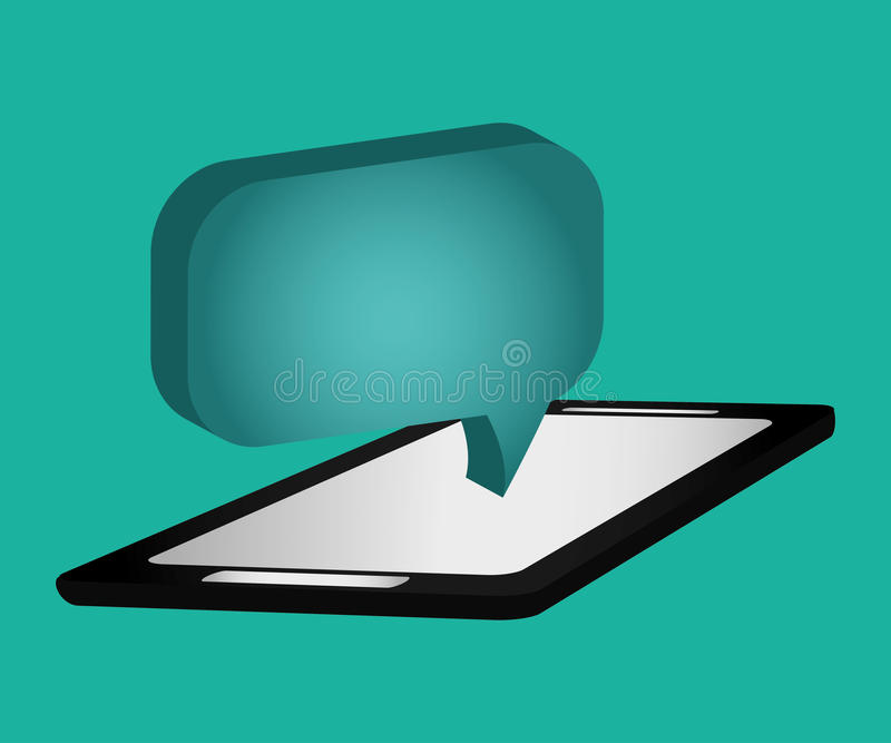 Chat bubble social media vector illustration