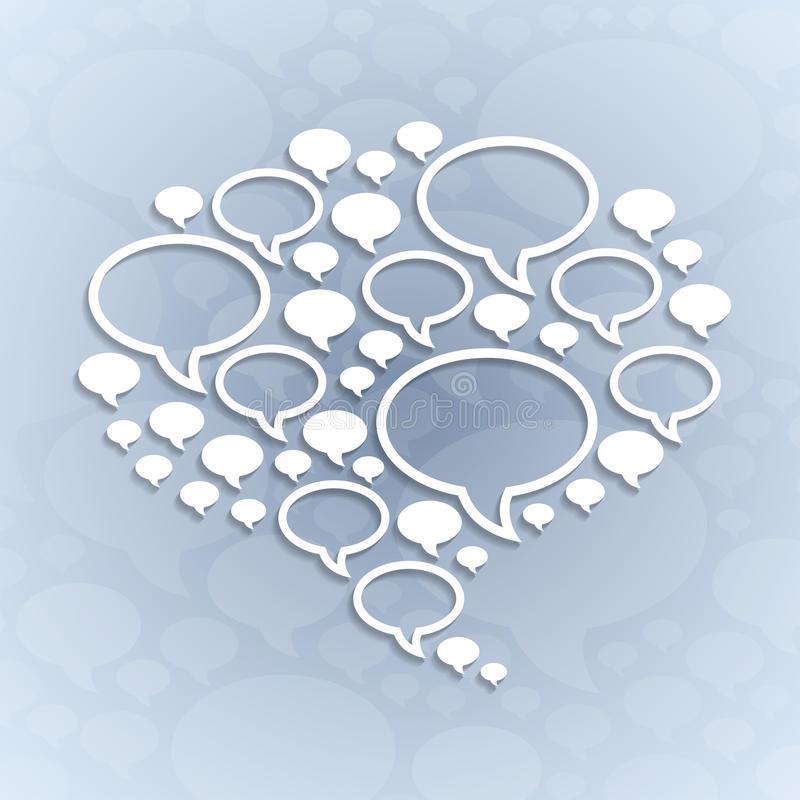 Download Chat Bubble Symbol On Light Grey Background Stock Photos - Image: 34596063