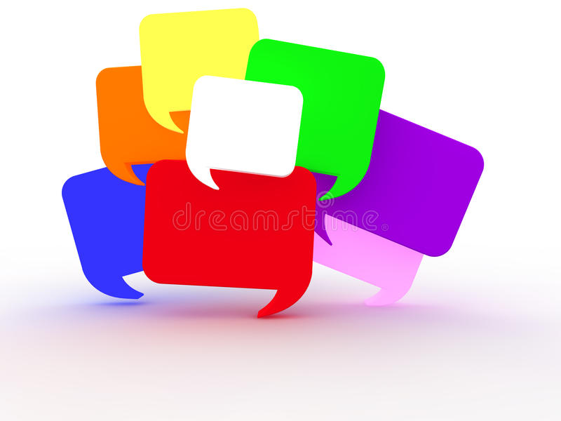 Download Chat Bubbles stock illustration. Image of messager, bubbles - 26743389