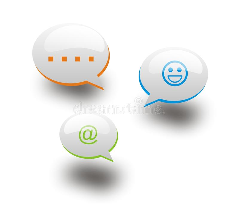 Download 3 Chat Bubbles Royalty Free Stock Image - Image: 31986276