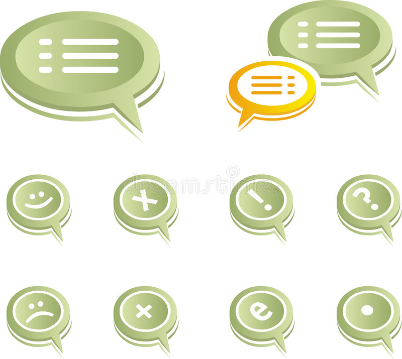 Download Chat Bubles stock vector. Image of dimension, balloon - 9057771
