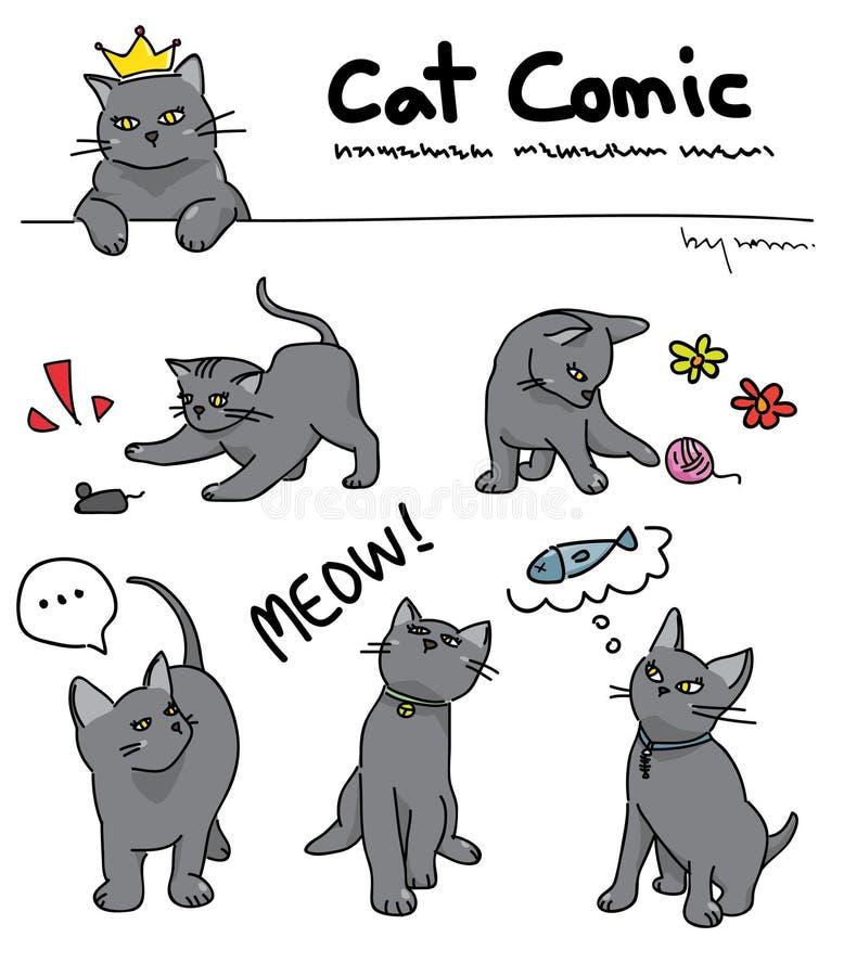 Chat comique illustration de vecteur