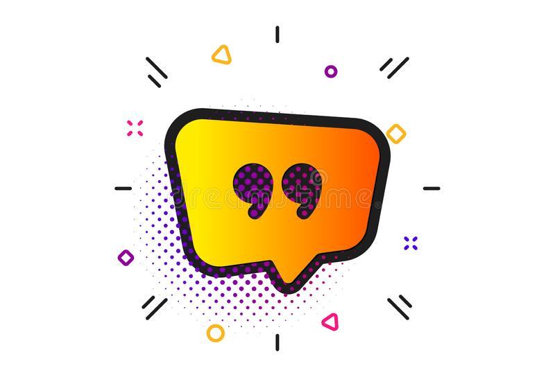 Quote bubble icon. Chat comment sign. Speech bubble. Vector royalty free illustration