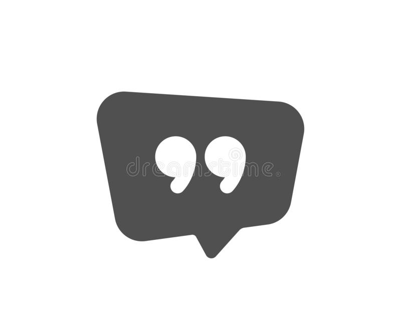 Quote bubble icon. Chat comment sign. Speech bubble. Vector vector illustration
