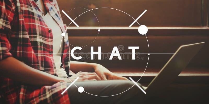 Chat Communicate Online Communication Connect Concept stock photos