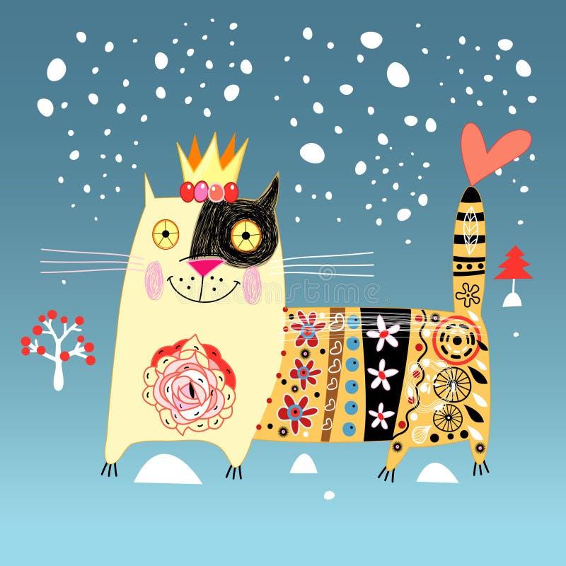 Chat décoratif illustration stock