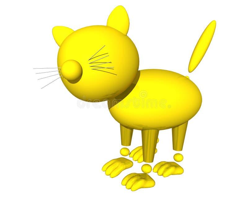Chat d'or illustration de vecteur