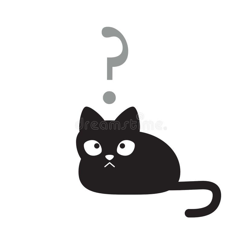 Chat dans l'état d'esprit confus illustration de vecteur