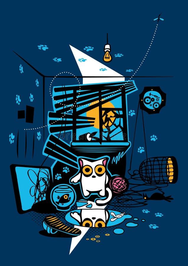 Chat de bandit illustration stock