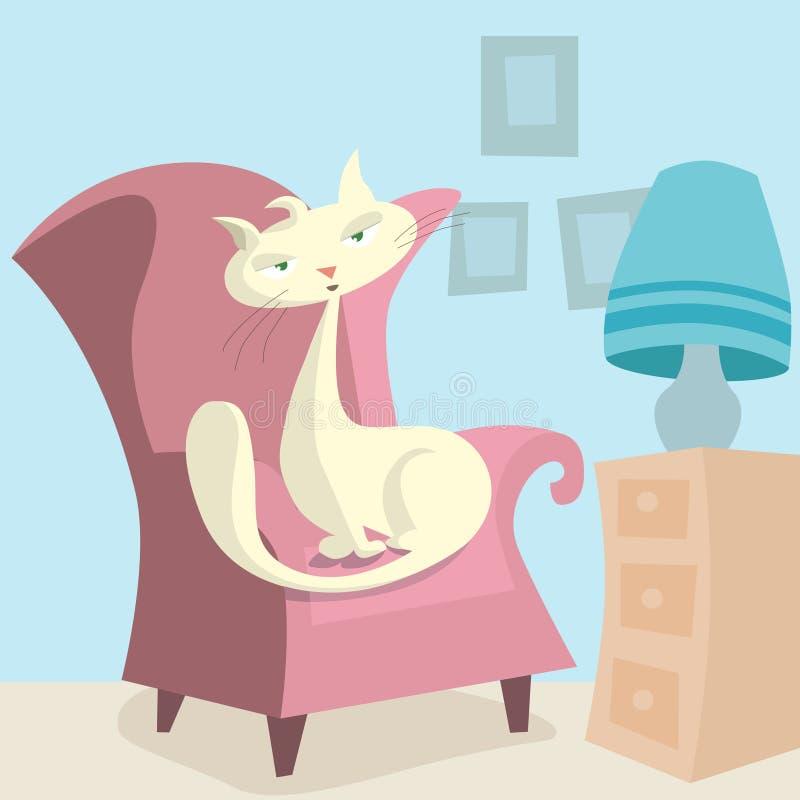 chat de dessin animé illustration stock