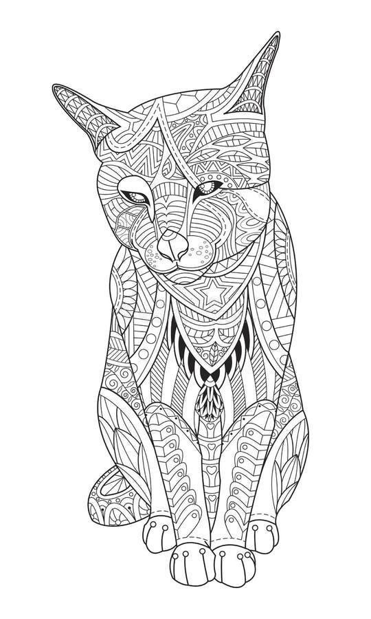 download chat de dessin pour livre de coloriage pour des adultes illustration de vecteur illustration - Dessin Pour Adultes
