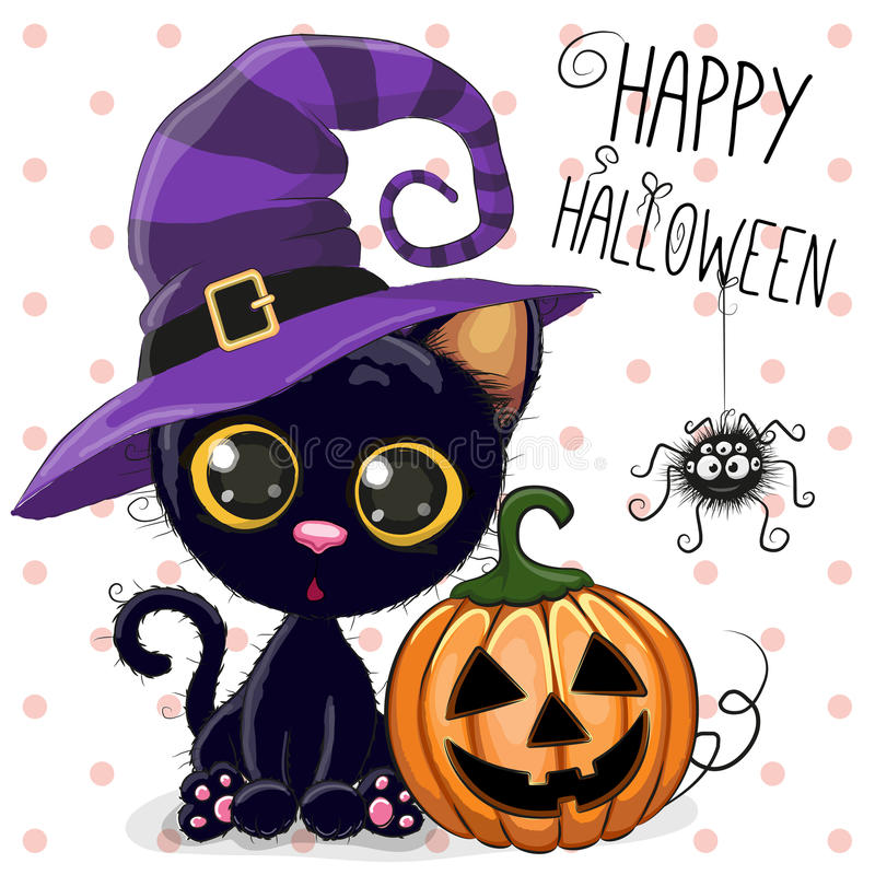 Chat de Halloween illustration de vecteur