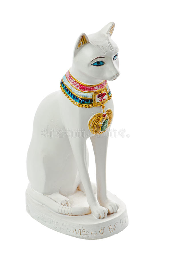 Chat de l'Egypte de statue photographie stock