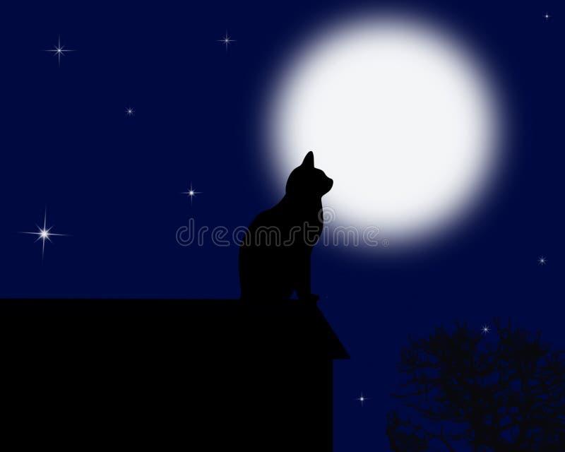 Chat de lune image libre de droits