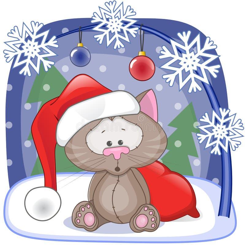 Chat de Santa illustration libre de droits