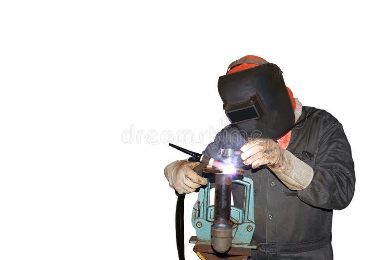Chat de soudure par l'argon de gaz photographie stock libre de droits